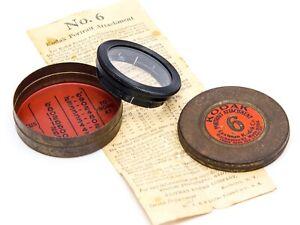 Vintage Kodak Portrait Attachment Lens Push-On Filter EKCO No. 6 with Tin Case