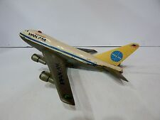 VTG TIN LITHO JAPAN PAN AM TOY AIRPLANE BATTERY OPERATED BOEING 747