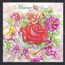 MALAYSIA 2014 ROSES (HYBRID TEA ROSE - HEART SHAPED) SOUVENIR SHEET 1 STAMP MINT
