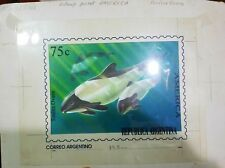 O) 1993 ARGENTINA, ARTWORK ANTARCTICA TONINO OVERA - WHALE CEPHALORHYNCHUS COMME