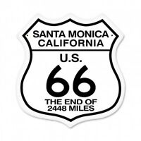 Santa Monica Pier The End of Route 66 2,448 Miles Shield Metal Sign