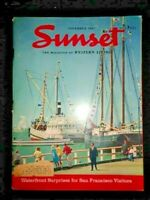 1967 SUNSET Magazine Haggin Museum Stockton Mojave Spelunking Lake Tota Abalone