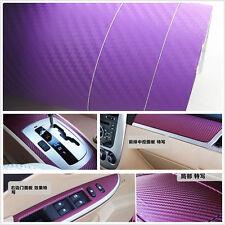 Car Interior Accessories Interior Panel purple3D Carbon Fiber Vinyl Wrap Sticker