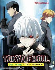 DVD Anime TOKYO GHOUL (1-49 End) COMPLETE+ 2 OVA +Live Movie English Sub/Dub*