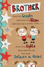 LARGE 3 FOLD FANTASTIC FUNNY POEM FOR MY BROTHER BIRTHDAY GREETING CARD