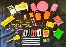 Vintage Barbie furniture and accessories lot. Great condition.