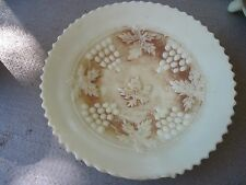 "Northwood Grape & Cable Custard Glass Plate with Factory Flaw on Rim..7 3/8""wide"