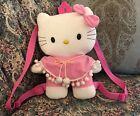 "NEW Sanrio Hello Kitty Pink Plush Girls Toddler Backpack adjustable Bag 13"" #D9"