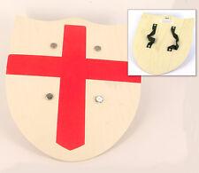 Scudo Cavaliere templare  di legno con croce rossa per bambini Toy Wood Shield