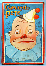 1920s Comical Pete Ring My Nose Skill Game Spear's Germany Vintage Clown Litho