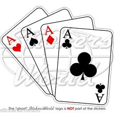 Casino jugando a las cartas Cuatro Ases Poker Ace, Parachoques Pegatina Calcomanía De Vinilo