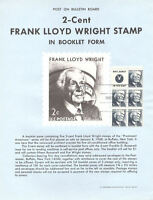 #1280a  2c Wright ME Booklet Stamp Poster- Unofficial Souvenir Page Flat HC