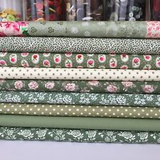 Green & pink 9  fat quarter bundle 100 % cotton each FQ 20x 22 inches