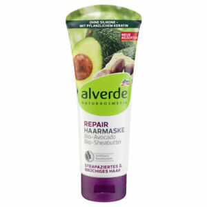 Natural Repair Hair Mask Alverde Avocado Jojoba Oil Shea Butter Hydration SALE