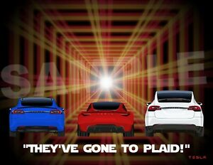 8.5x11 Tesla Plaid Poster. Model X, Model S, & 2020 Roadster