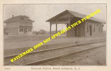 Pennsylvania RR Ship Bottom-Beach Arlington NJ station #1 LBI 8½x11 PC repro