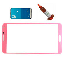Pink front glass lens screen Galaxy Note 3 N9000 replacement UV LOCA LCD Glue