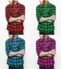 Rockabilly Slim Collared Casual Shirts & Tops for Men