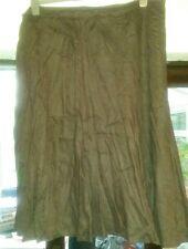 Tu brown linen skirt size 20