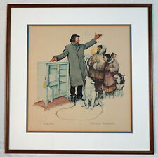 "Norman Rockwell The Expert Salesman 1962 Print 81/350 Framed 23.5"" x 23"""