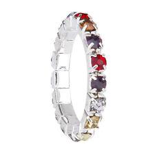 B9 3 X Elastic Toe Ring Bridal Jewelry Single-row Rhinestone 3mm  -multicolor J5 d655adbe62cb