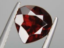Garnet Dark Red brown Pear Natural Loose Gemstone Kenya 9x9mm