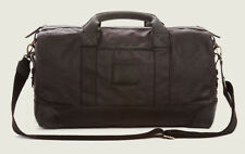 True Religion Men's Waxed Canvas Duffle Bag in Black Sand