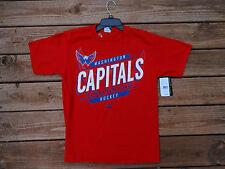 Youth X-Large Washington Capitals Majestic Red T Shirt NHL New + FREE  SHIPPING 1133cc1cb