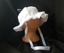 Baby Girl Sun Hat Broderie Anglaise - Made in the UK! Posted Daily!