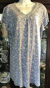 Karen Neuburger Encore Large Floral Sleepwear Nightgown Night Shirt Comfy