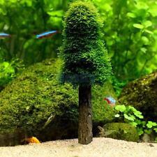 Simulation Xmas Moss Christmas Tree Plant Grow Aquarium Tank Aquascape Decor