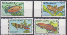 PP306 - SIERRA LEONE STAMPS 1988 MARINE LIFE/FISH SG1126-9 MINT NEVER HINGED