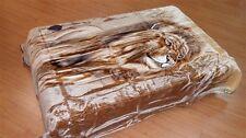 Licensed Solaron Lion Brown Korean Mink Plush Blanket Queen Size 79x95 Inches