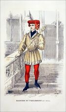 JUSTICE - MASSIER du PARLEMENT de PARIS au 16eme siècle - Gravure du 19e siècle