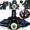 Super Bright Zoom Headlamp Head Torch 90000 LM Rechargeable T6 LED Flashlights