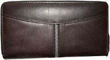 Women's wallet. Zip around checkbook wallet Checkbook cover/case Leather wallet.