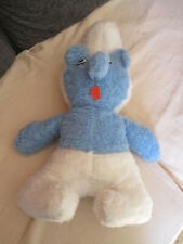 VINTAGE SOFT SMURT TOY 19 INCHES IN LENGTH BLUE & WHITE