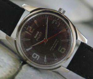 USED HMT Pilot 17Jewels Winding Wrist Watch For Men's Wear W-6923