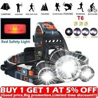 Waterproof 90000LM 3X T6 LED Headlamp Headlight Flashlight Head Torch 18650 Camp