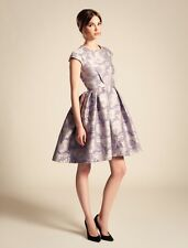 Temperley London Rosa Jacquard Structured Dress in Mauve SIZE UK 12 RRP£850  #*4