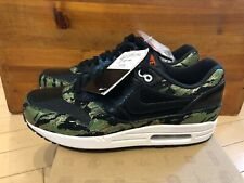 the latest 6dd7f 4b35a 2013 Nike Air Max 1 PRM Atmos Tiger Camo Green Black Orange Safari sz 10.5