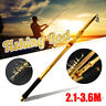2.1-3.6M Portable Carbon Fiber Telescopic Fishing Rod Spinning Travel Pole Rod