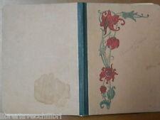 Vecchio quaderno scolastico scuola epoca decoro floreale ESERCIZI DI GEOMETRIA