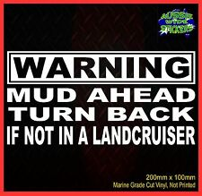 Funny LANDCRUISER 4x4 Stickers ute Car accessories MUD AHEAD 200mm for Toyota