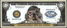 TIGER ~ One Million Note - Fantasy Money - Endangered Species Series ~ Beautiful