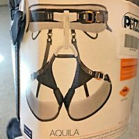 Petzl AQUILA High-End Climbing and Mountaineering Harness - Grey - S, M or XL