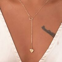 Women Hollow Love Heart Gold Plated Pendant Necklace Choker Charm Jewelry Gift