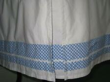 Pottery Barn Kids Baby Crib Bedskirt White With Blue and White Gingham Check