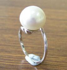 Anelli di lusso con perle perla bianchi oro bianchi