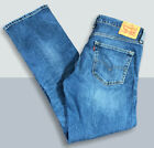 Levis Jeans Mens 34 X 34 Straight Leg Dark Wash Original 559 Zip Fly